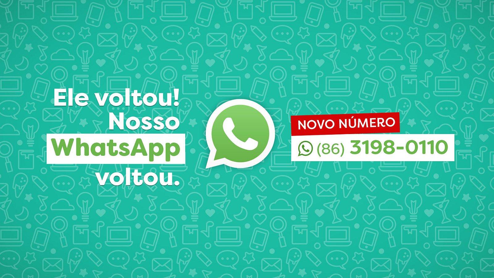 O nosso WhatsApp está de volta!